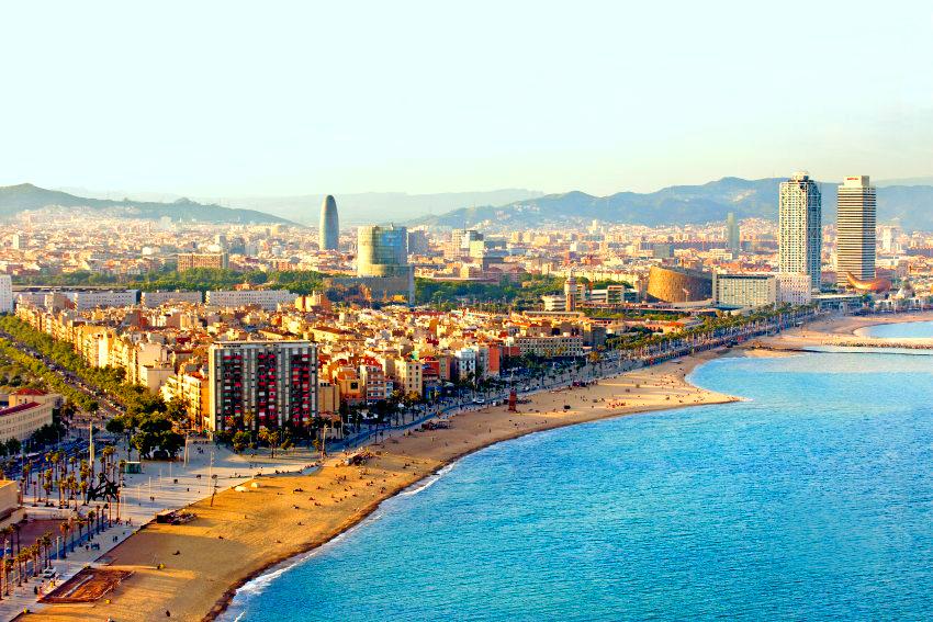 Strande In Barcelona