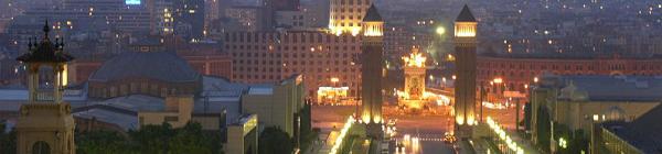 La Plaza Espanya de Barcelone