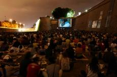Outdoor film festival Barcelona Spain