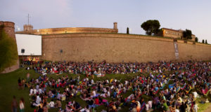 Cinema all'aperto al Montjuic