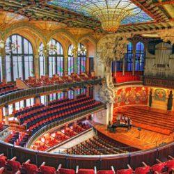 Inside Palau de la Musica Catalana