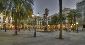 Amazing view of Placa Reial Barcelona
