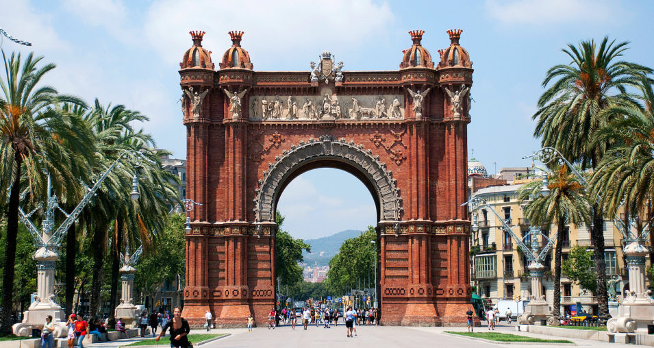 Arc De Triomf beautiful architecture display
