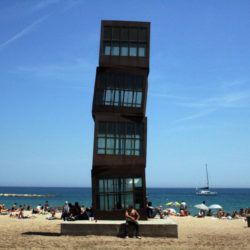 Barceloneta beach art in Spain