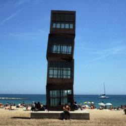 Barceloneta beach art in Spain