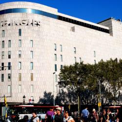 El Corte Ingles Barcelona Spain in the Daytime