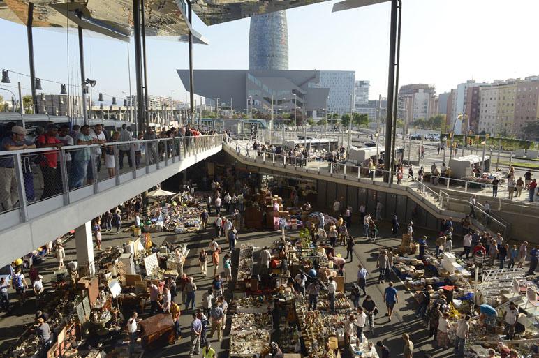 Encants Vells Market Barcelona Spain