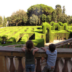 labyrinth park children enjoying the view