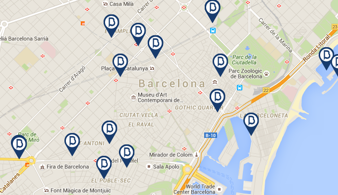 map barceloneta premium