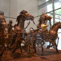 Museu de la Xocolata horses sculpture