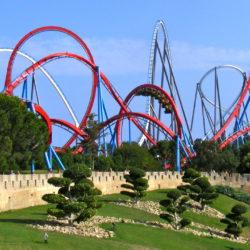 Roller coaster in PortAventura
