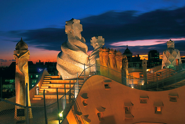 roof top view of Casa Mila Barcelona 2