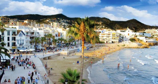 Sitges beach side Spain