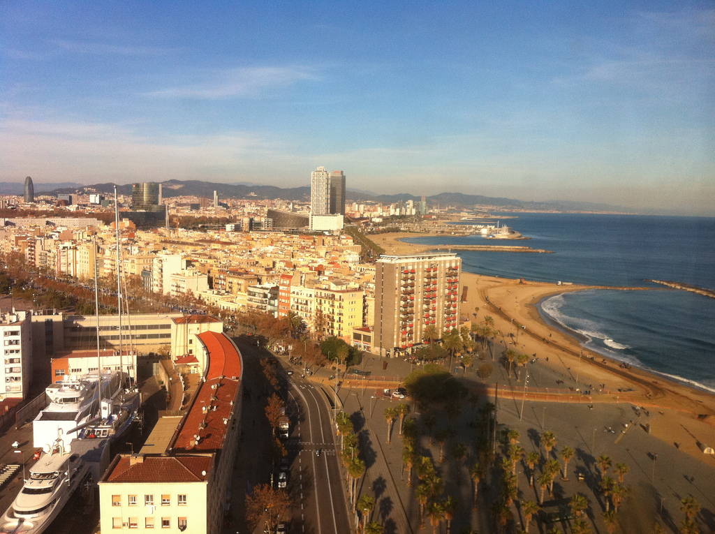 Sun Sea Sand and Land Barcelona Beaches, Spain