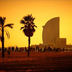 De stranden van Barcelona