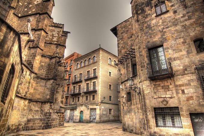 Barrio Gotic neighbourhood in Barcelona Spain