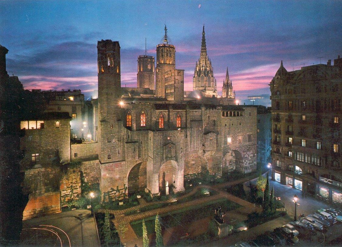 Barrio Gotico Neighbourhood in Barcelona Spain