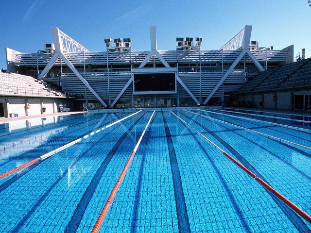 Beautiful outdoor pool in Barcelona spain