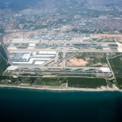 Birds Eye View of Barcelona Airport