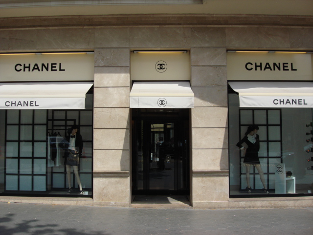 Chanel Designer store in Passeige de Gracia