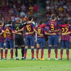 FC Barcelona on the pitch
