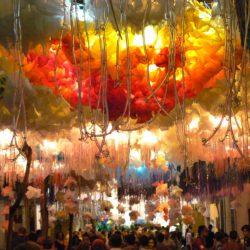 Festa Major de Gracia in Barcelona Spain