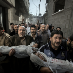 Gaza Burial by Paul Hansen