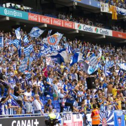 RCD Espanyol Stadium with Crowded Audience