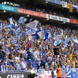 RCD Espanyol Stadium with Crowded Audience