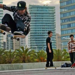 Skateboarding Barcelona Spain