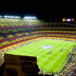 Spectacular Views in Camp Nou Football Stadium