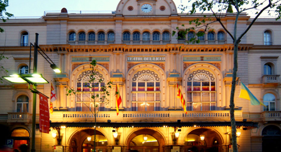 Teatre del Liceu Exterior view of the Opera House Barcelona