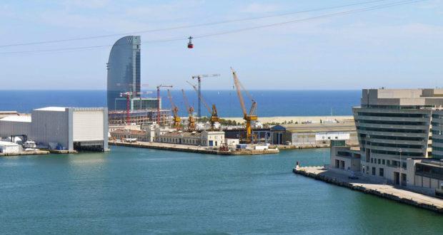 the transbordador aeri cable car in barcelonaa