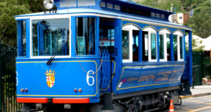 Tramvia Blau also known as the Blue Tram