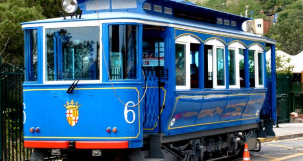 Tramvia Blau also known as the Blue Tram