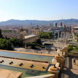 View from Museu Nacional d'art de Catalunya in Barcelona