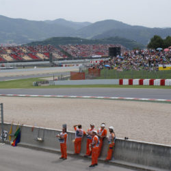 View of the track at Circuit de Catalunya Barcelona