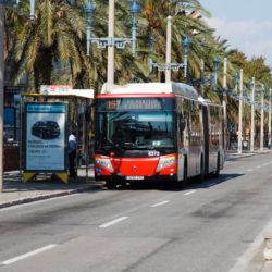 Bus system in Barcelona Spain