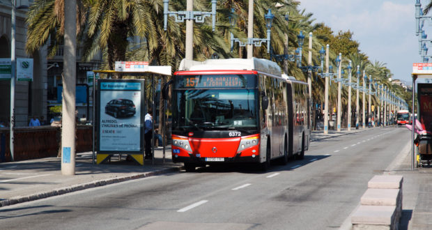 Bus system in Barcelona Spain
