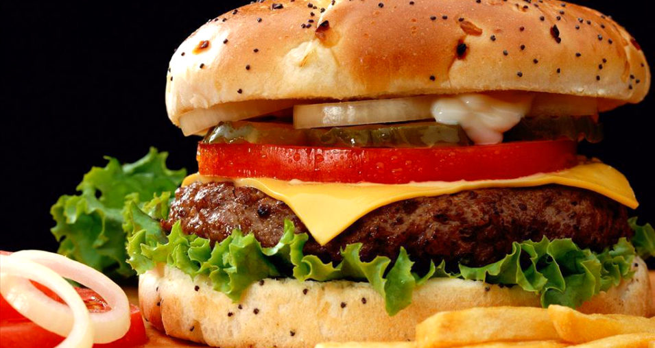 Hamburger Fast Food French Fries Barcelona