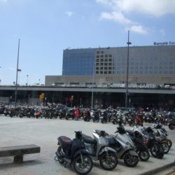 Sants station Barcelona spain