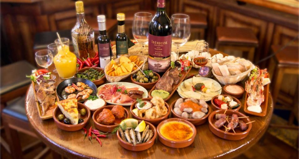 Table full of Tapas