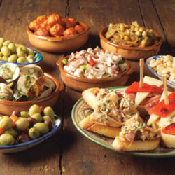 Tapas Dishes Barcelona Spain