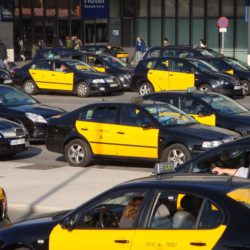 Taxis outside sants railway station