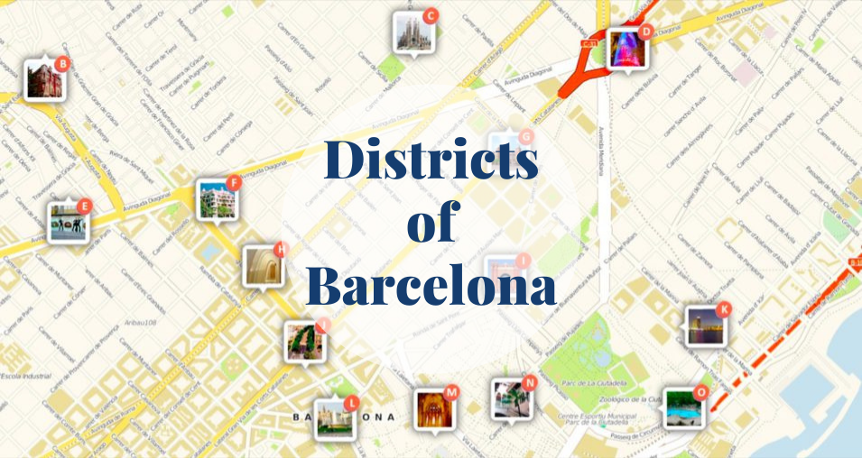 Districts of Barcelona Barcelona-Home