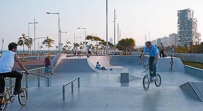 Port olimpic skatepark Barcelona