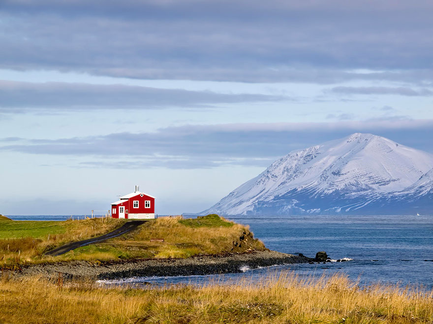 The small red house, Iceland.