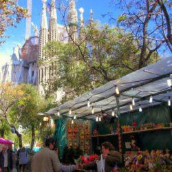 Fira de Nadal of Sagrada Familia