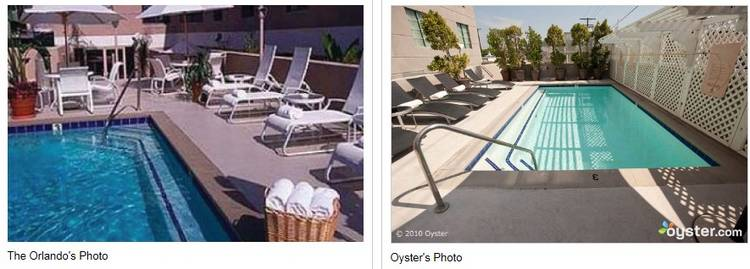 Fake apartments swimming pools