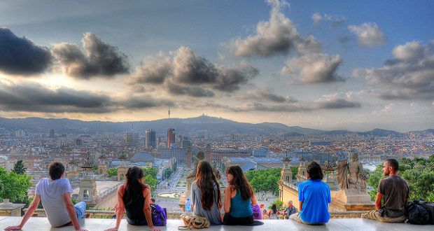 People in Barcelona